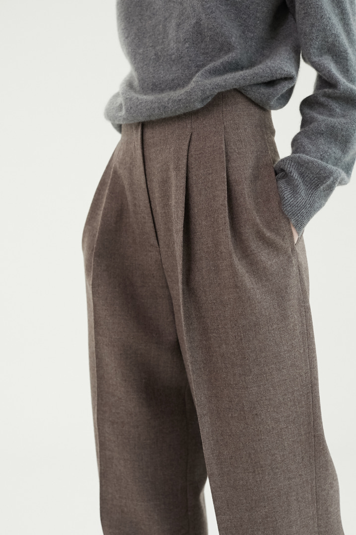 Numero 030: Winter Pin-tuck Wide Slacks (2 Colors)