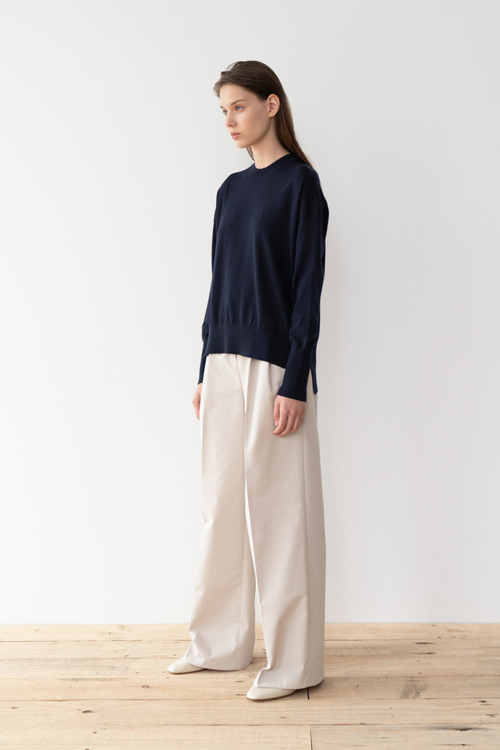 Numero 047: Pleated Cotton Wide Pants (2 colors)