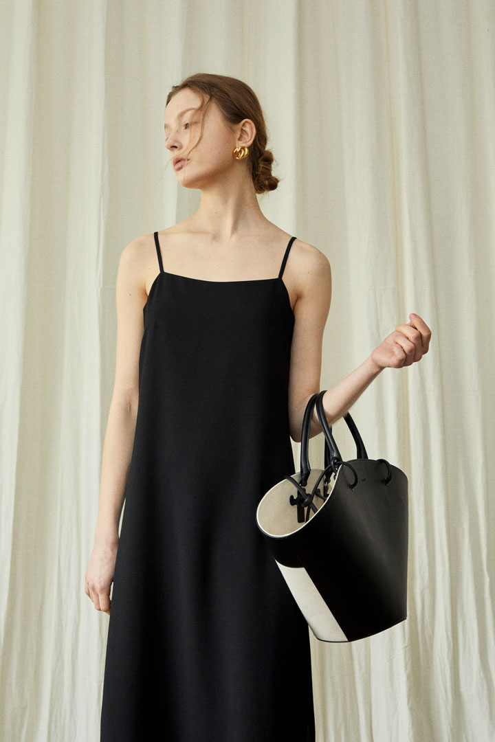 Crepe Slip Dress