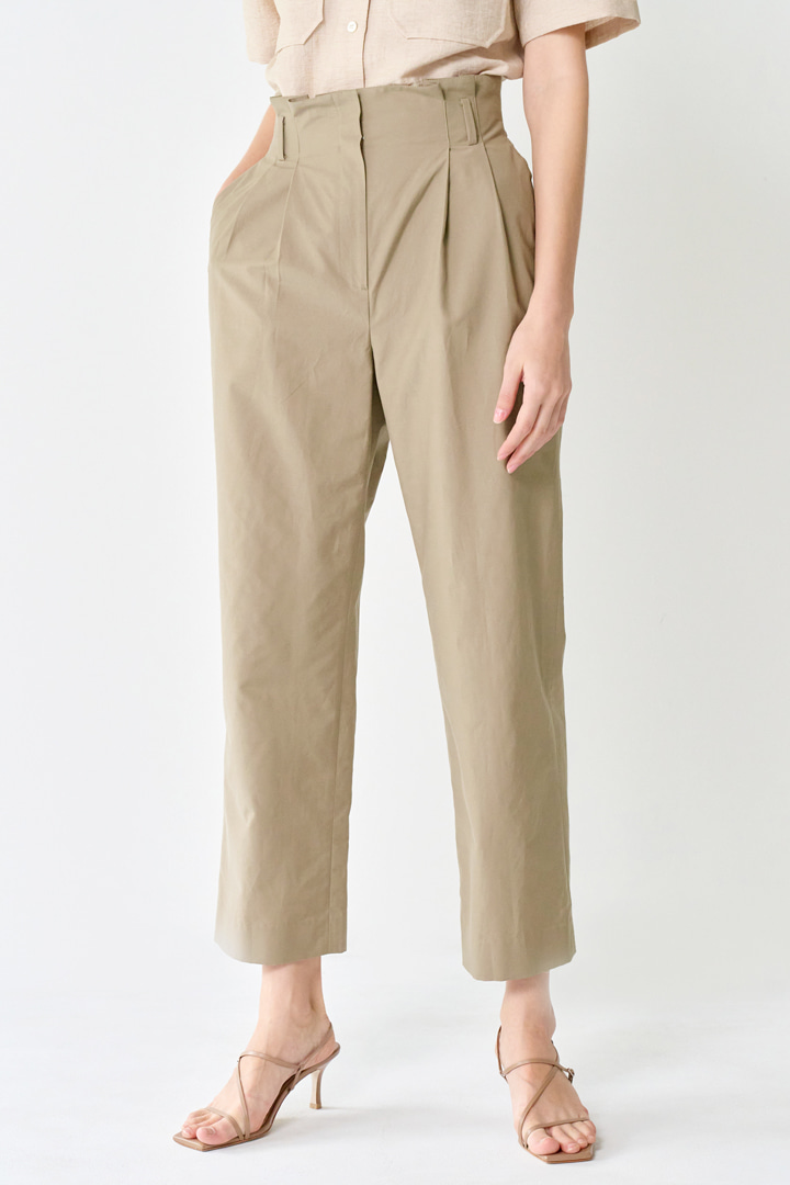 High-rise Roll-up Pants (2 colors)