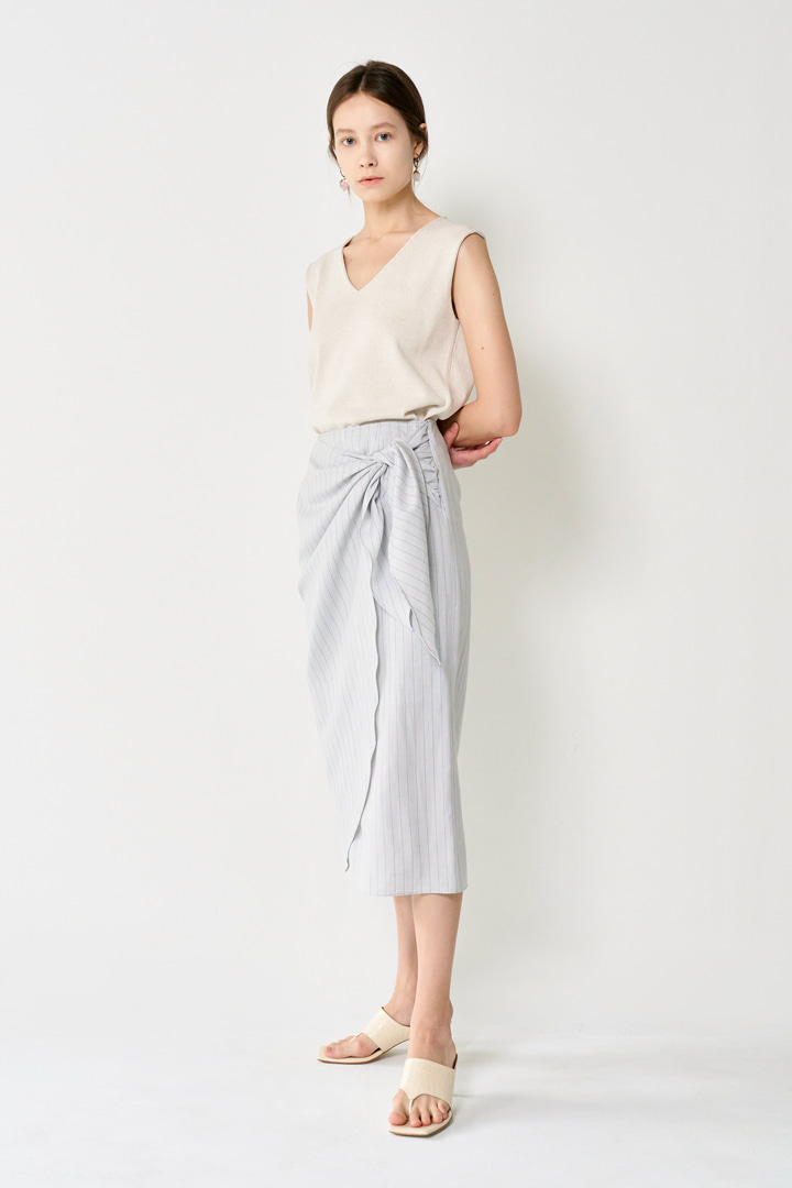 Numero 040: Pinstriped Wrap-over Skirt (2 colors)