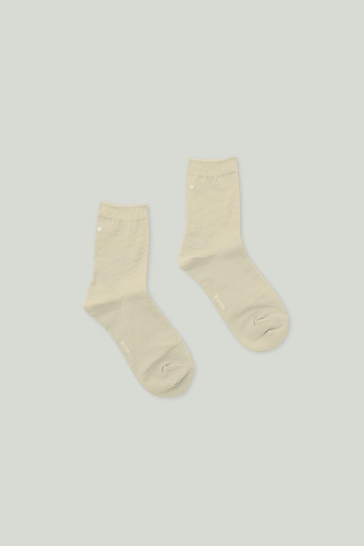 Heart Ankle Socks (Greenish)