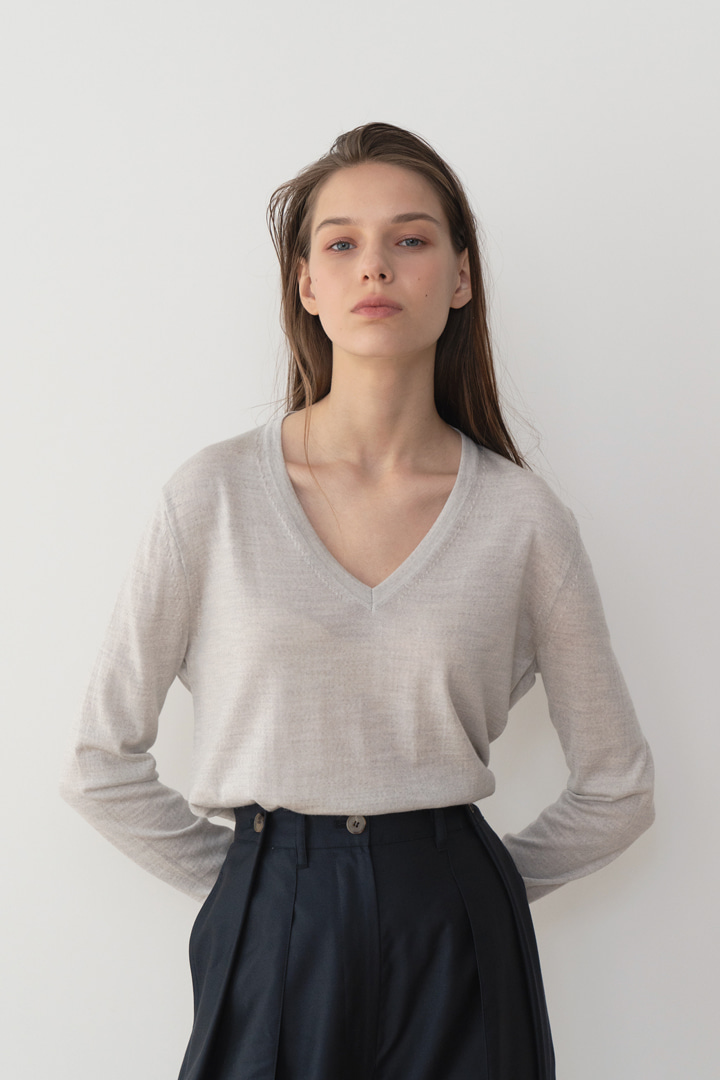 Numero 037: Italy Wool V-neck Knit (2 colors)