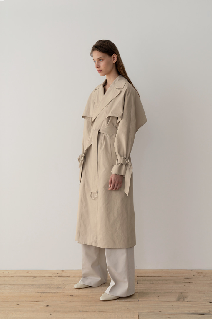 Numero 044: Double-stitched Cotton Trench Coat