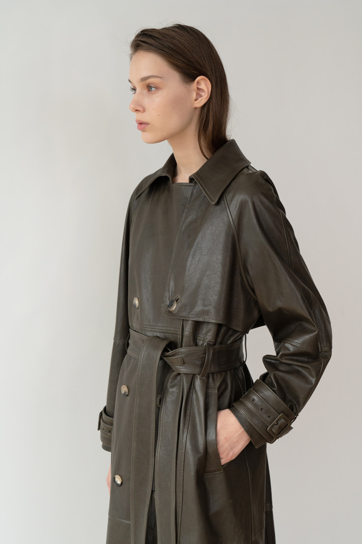 Numero 049: Belted Leather Trench Coat