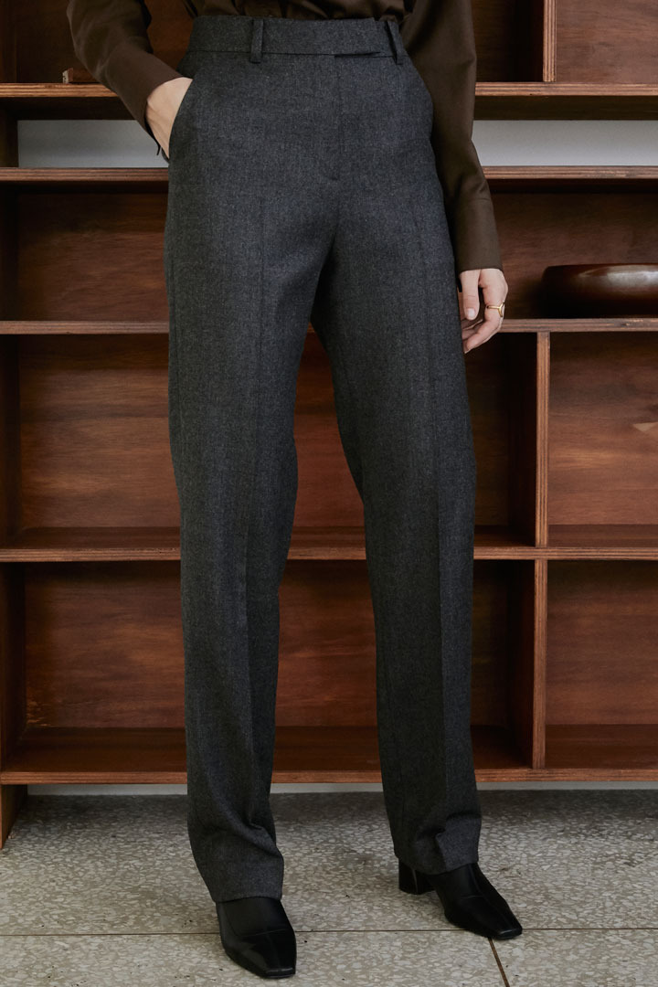 Numero 063: Wool Long Slacks (Gray)