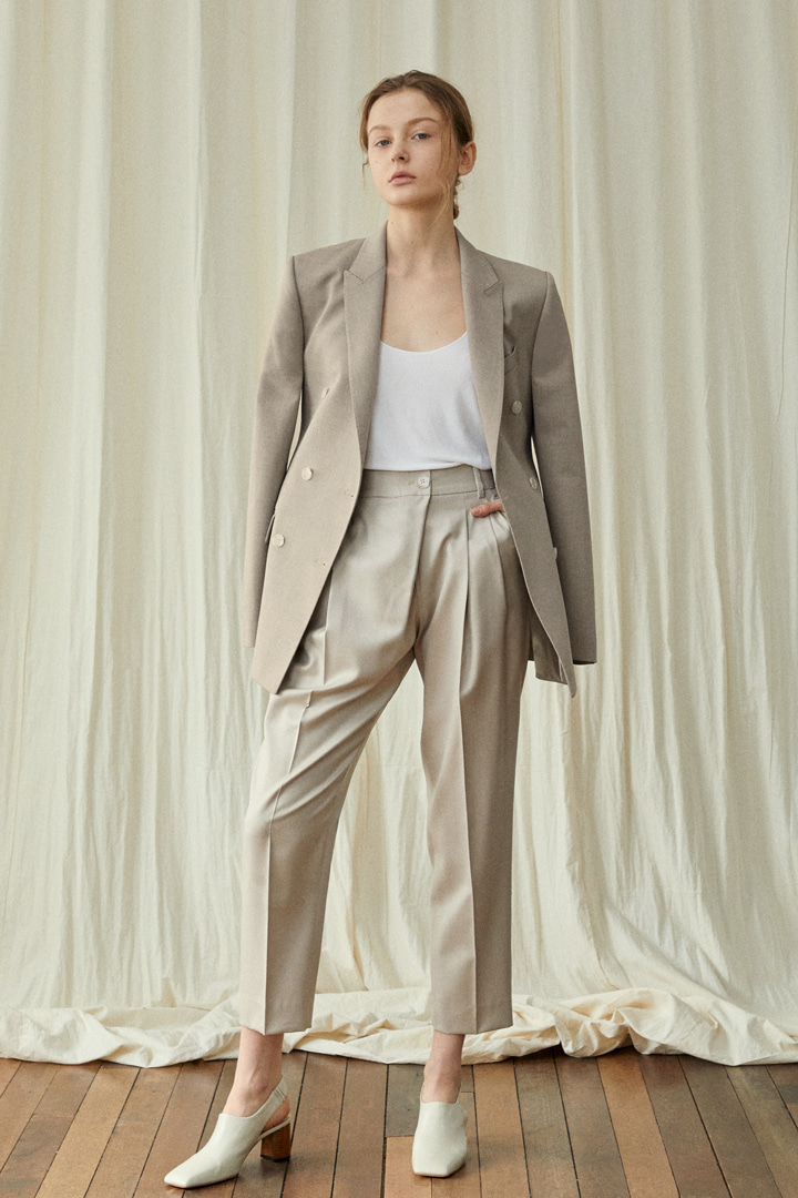 Numero 072: Cropped Wool-Silk Trousers (2 colors)