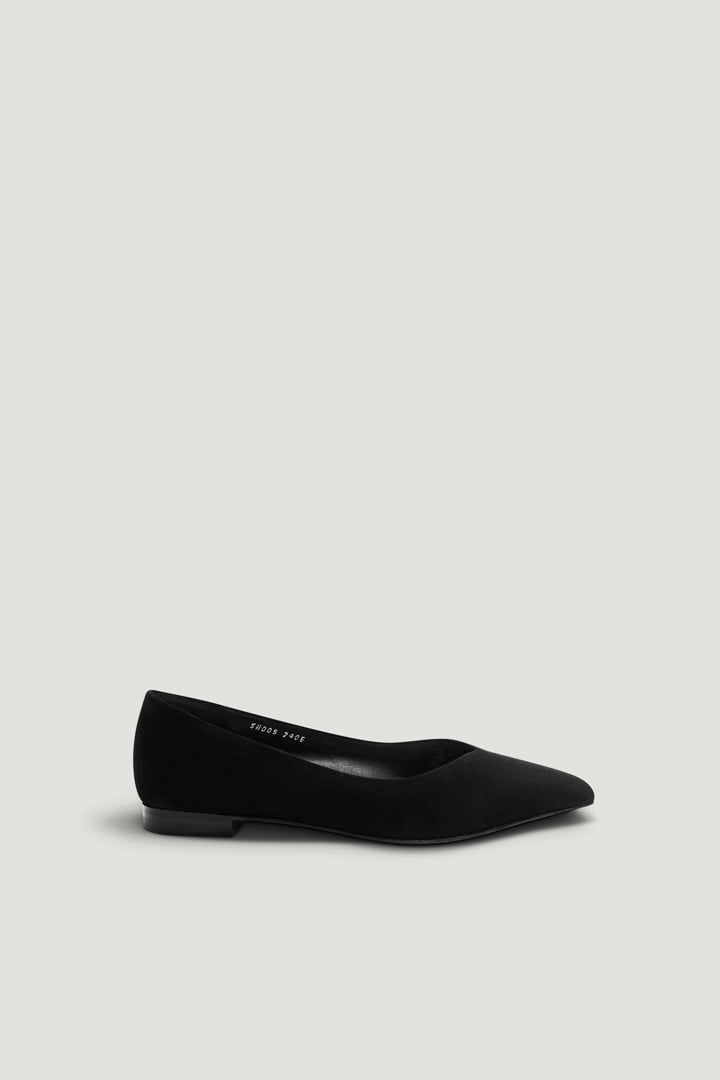 Pernell Flat (Black Suede)