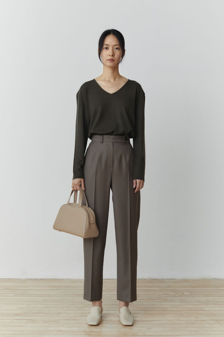 Numero 107: Wool Curved Slacks (Ash Mocha)