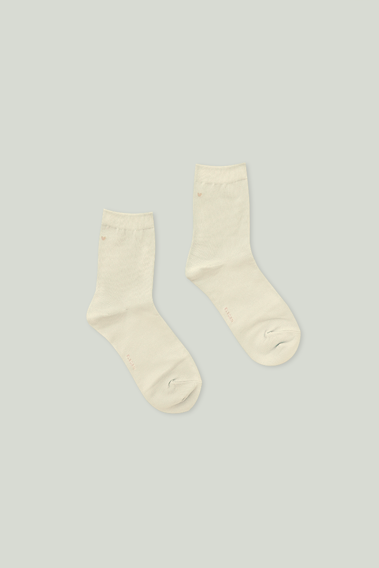 Heart Ankle Socks (Ivory)