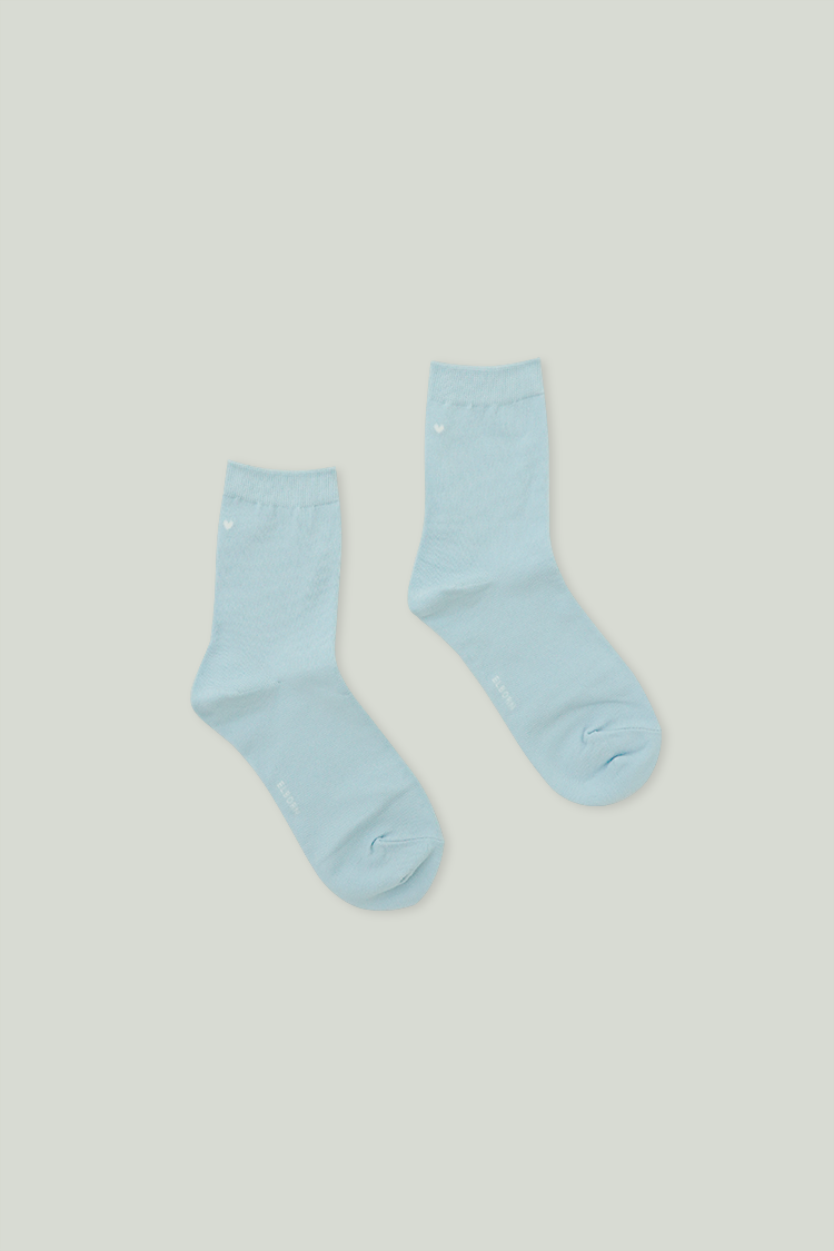 Heart Ankle Socks (Baby Blue)