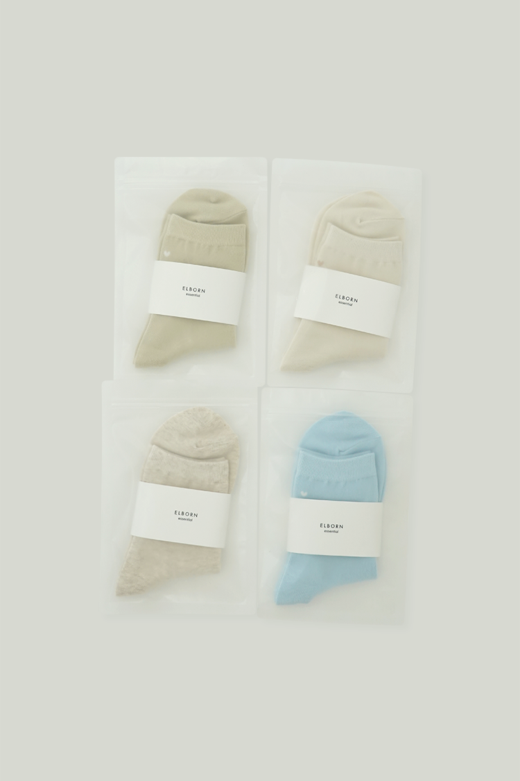 Heart Ankle Socks Set (4 colors)